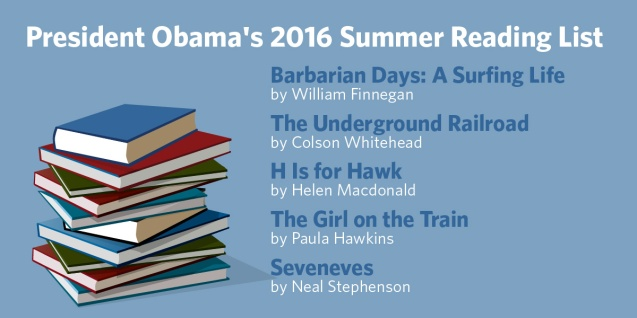 president obama 2016 summer reading list
